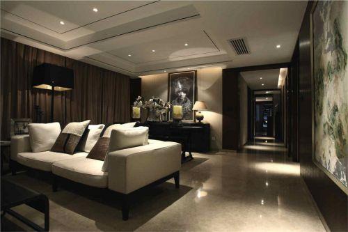 美式灰色沙发的客厅装修