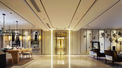中式简约客厅玄关装修设计