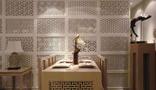 米色优雅的餐厅装修