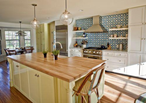 北欧风格开放式厨房效果图