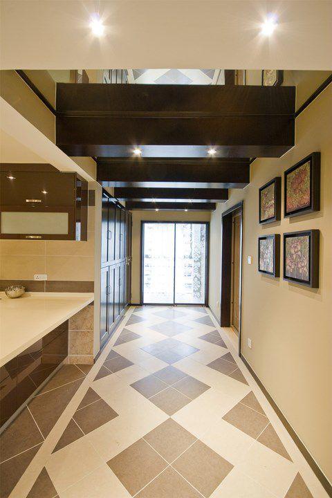 米色简约的玄关走廊装修