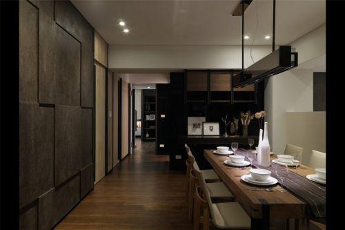 咖啡色创意墙面的餐厅装潢