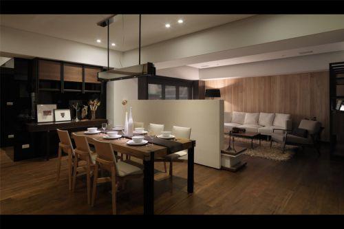 现代风格实木餐桌的餐厅效果图
