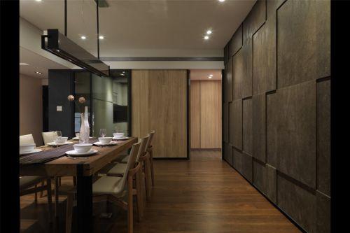 深咖色墙面餐厅装修