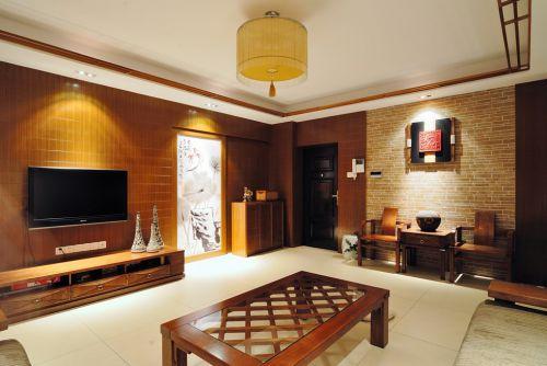 中式实木家具客厅装修