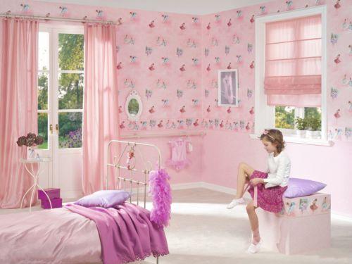 粉色系少女儿童房效果图