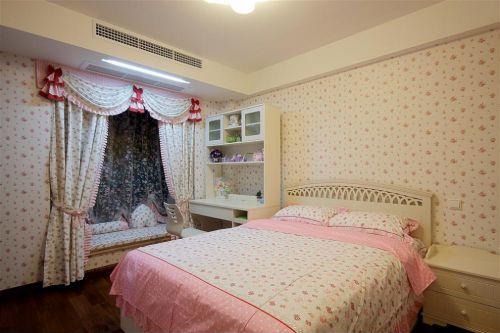 粉色系简约女儿房装修效果图