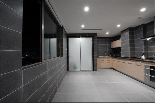 灰色简约的美式厨房装修