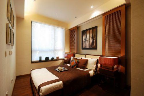 咖啡色床的卧室简约设计