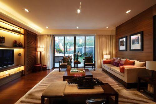 木质感优雅的客厅设计