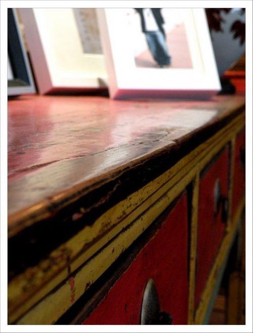 红色的古典卧室橱柜装潢