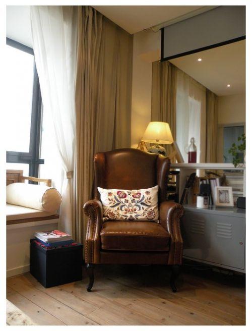 咖啡色的卧室欧式椅子装潢