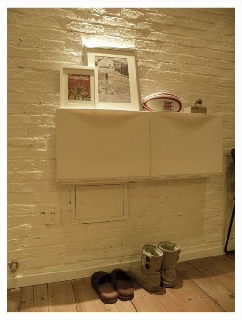 简约白色的客厅墙面装修