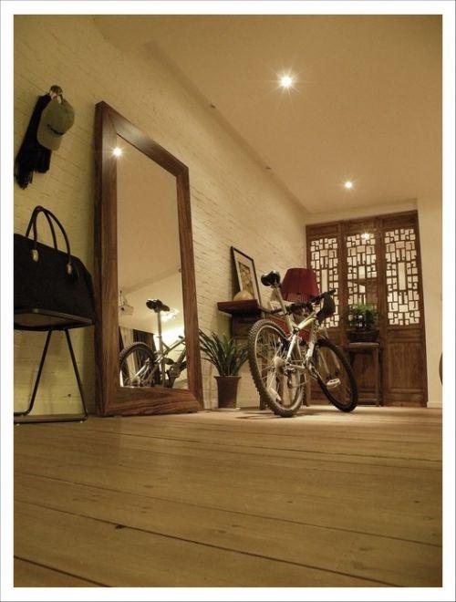 田园木地板的客厅地面设计