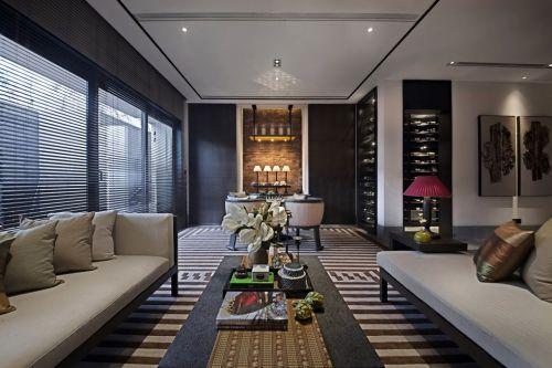 黑色简约大气的客厅设计