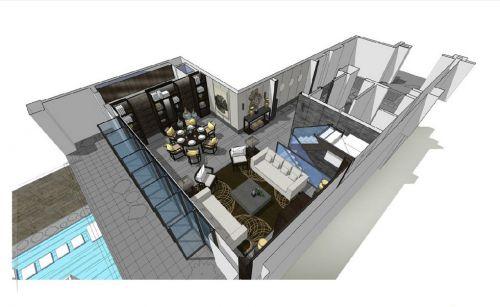 客厅餐厅设计图