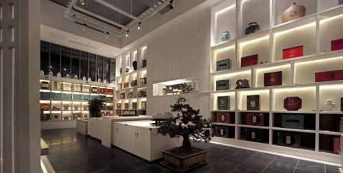 豪华宽敞的白色书房装潢