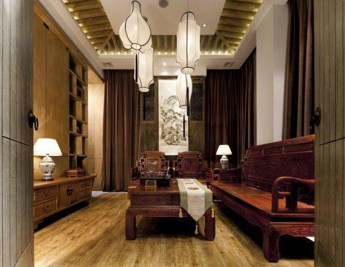 古典木质家具的客厅装修