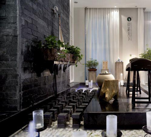 黑色的简约悠闲休闲室设计