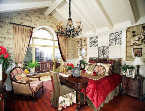 色彩丰富的美式风格卧室装修