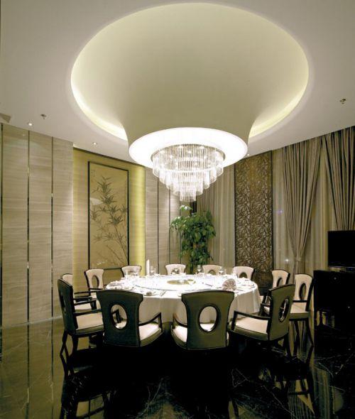 灰绿色的美式餐厅设计