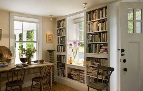 美式风格室内书房设计效果图