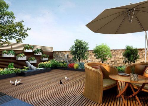 花园装修设计效果图
