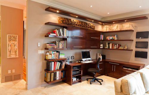 开放式书房设计效果图