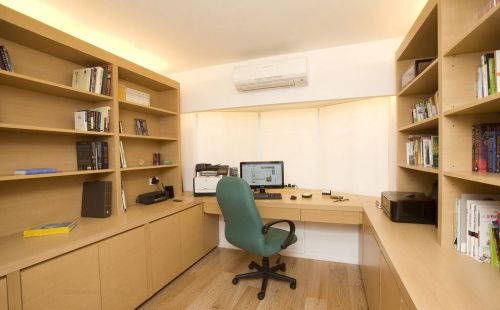 简约办公书房装修效果图