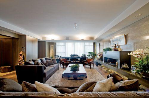 宽敞的豪华客厅效果图