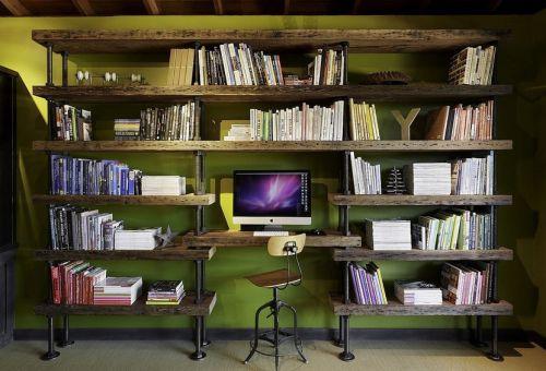 美式乡村书房装修设计