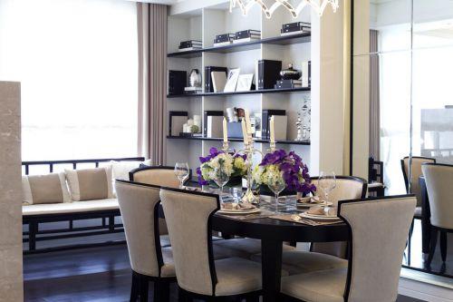 简欧风格米色餐厅装潢设计