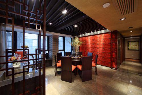 红色有情调的美式餐厅装潢