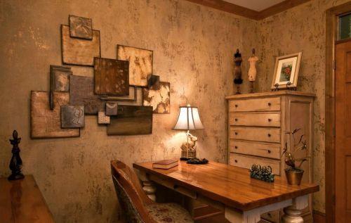 美式乡村风格书房装饰设计