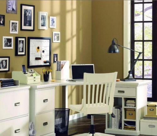 简约别墅书房照片墙效果图