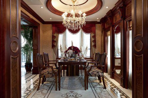 美式古典风格餐厅装潢设计