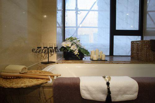 田园风格的浴室效果图