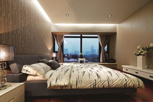 简约卧室灯光设计图片