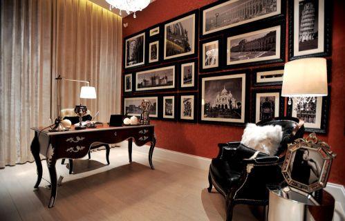 古典欧式书房照片墙设计