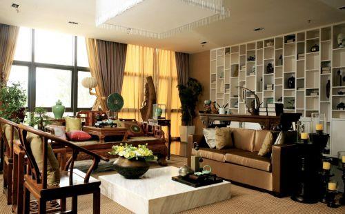 新中式风格书房装修设计图片