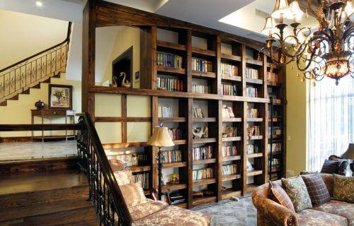 古典别墅书房吊顶效果图
