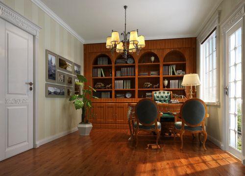 欧式古典风格书房吊顶设计
