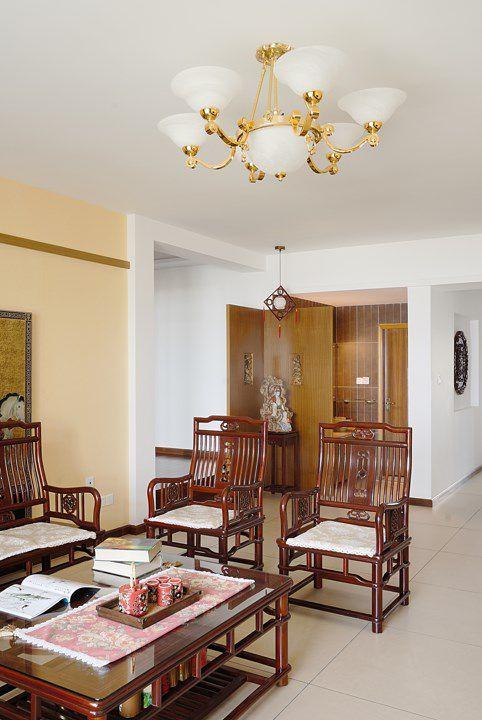 豪华的中式风格客厅效果图