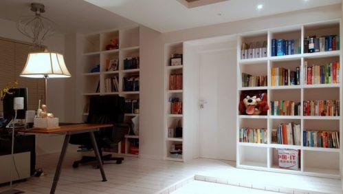 简欧风格书房隔断装修设计