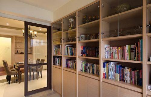 简约书房书柜收纳设计图片