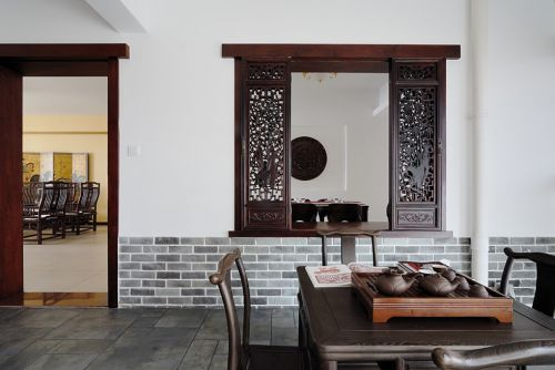 古典风格茶室装修效果图