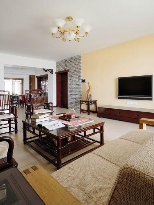 古典风格淳朴的客厅效果图