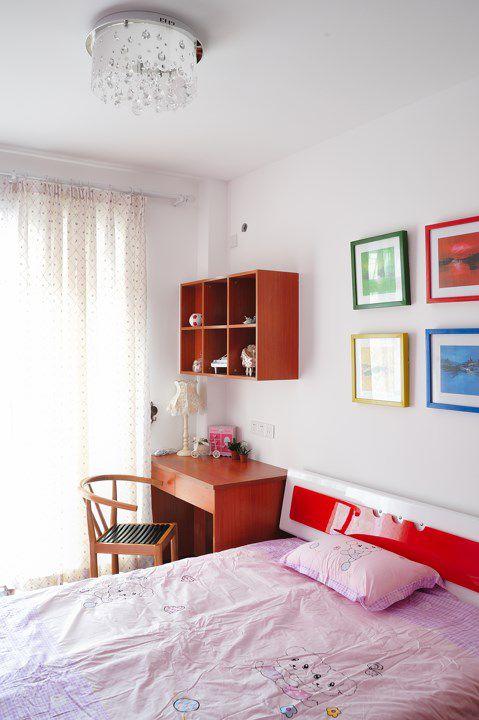 简约风格儿童卧室读书区设计
