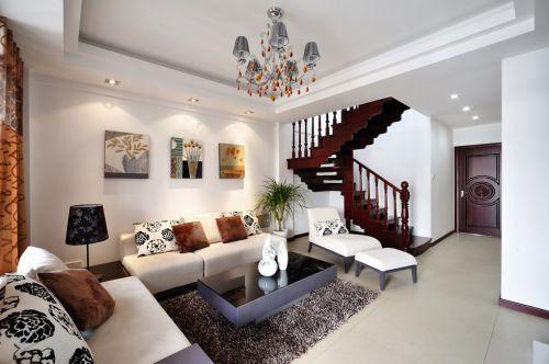 新中式风格复式住宅客厅设计