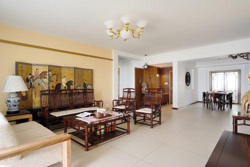 中式风格客厅屏风效果图